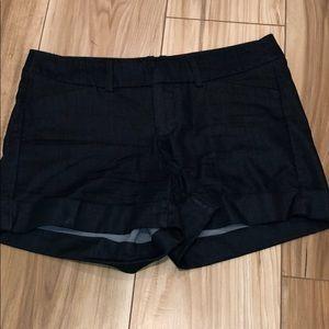 Target mossimo dark denim shorts cuffed
